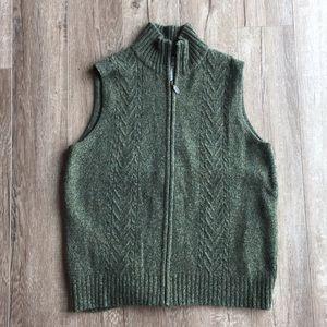 Pendleton 100% Wool Green Vest